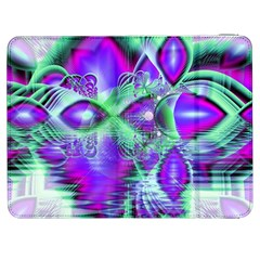 Violet Peacock Feathers, Abstract Crystal Mint Green Samsung Galaxy Tab 7  P1000 Flip Case by DianeClancy