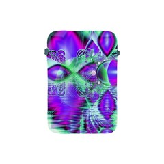 Violet Peacock Feathers, Abstract Crystal Mint Green Apple Ipad Mini Protective Sleeve by DianeClancy