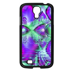 Violet Peacock Feathers, Abstract Crystal Mint Green Samsung Galaxy S4 I9500/ I9505 Case (black) by DianeClancy