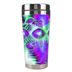 Violet Peacock Feathers, Abstract Crystal Mint Green Stainless Steel Travel Tumbler by DianeClancy