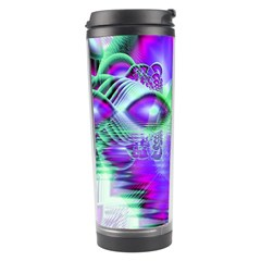 Violet Peacock Feathers, Abstract Crystal Mint Green Travel Tumbler by DianeClancy