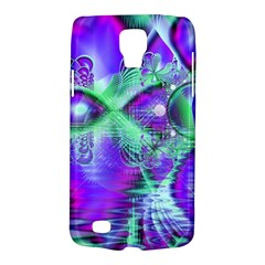 Violet Peacock Feathers, Abstract Crystal Mint Green Samsung Galaxy S4 Active (i9295) Hardshell Case by DianeClancy