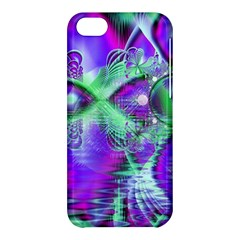 Violet Peacock Feathers, Abstract Crystal Mint Green Apple Iphone 5c Hardshell Case by DianeClancy