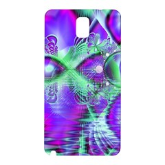 Violet Peacock Feathers, Abstract Crystal Mint Green Samsung Galaxy Note 3 N9005 Hardshell Back Case by DianeClancy