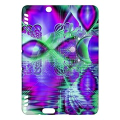 Violet Peacock Feathers, Abstract Crystal Mint Green Kindle Fire Hdx 7  Hardshell Case by DianeClancy
