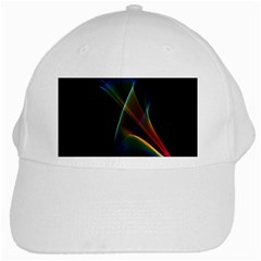 Abstract Rainbow Lily, Colorful Mystical Flower  White Baseball Cap by DianeClancy