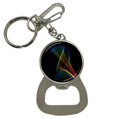 Abstract Rainbow Lily, Colorful Mystical Flower  Bottle Opener Key Chain by DianeClancy