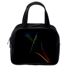 Abstract Rainbow Lily, Colorful Mystical Flower  Classic Handbag (one Side) by DianeClancy