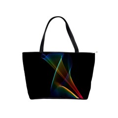 Abstract Rainbow Lily, Colorful Mystical Flower  Large Shoulder Bag by DianeClancy