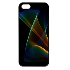 Abstract Rainbow Lily, Colorful Mystical Flower  Apple Iphone 5 Seamless Case (black) by DianeClancy