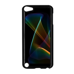 Abstract Rainbow Lily, Colorful Mystical Flower  Apple Ipod Touch 5 Case (black)