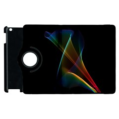 Abstract Rainbow Lily, Colorful Mystical Flower  Apple Ipad 3/4 Flip 360 Case by DianeClancy