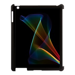 Abstract Rainbow Lily, Colorful Mystical Flower  Apple Ipad 3/4 Case (black) by DianeClancy