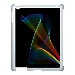 Abstract Rainbow Lily, Colorful Mystical Flower  Apple Ipad 3/4 Case (white) by DianeClancy