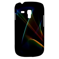 Abstract Rainbow Lily, Colorful Mystical Flower  Samsung Galaxy S3 Mini I8190 Hardshell Case by DianeClancy