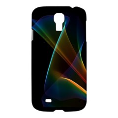 Abstract Rainbow Lily, Colorful Mystical Flower  Samsung Galaxy S4 I9500/i9505 Hardshell Case by DianeClancy