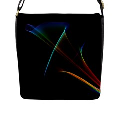 Abstract Rainbow Lily, Colorful Mystical Flower  Flap Closure Messenger Bag (large) by DianeClancy