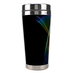 Abstract Rainbow Lily, Colorful Mystical Flower  Stainless Steel Travel Tumbler by DianeClancy