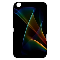 Abstract Rainbow Lily, Colorful Mystical Flower  Samsung Galaxy Tab 3 (8 ) T3100 Hardshell Case  by DianeClancy