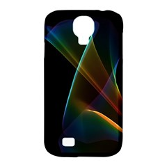 Abstract Rainbow Lily, Colorful Mystical Flower  Samsung Galaxy S4 Classic Hardshell Case (pc+silicone) by DianeClancy