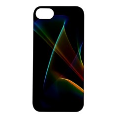 Abstract Rainbow Lily, Colorful Mystical Flower  Apple Iphone 5s Hardshell Case by DianeClancy