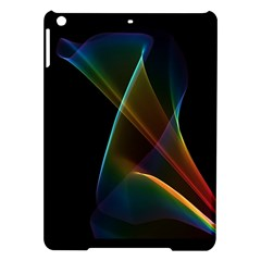 Abstract Rainbow Lily, Colorful Mystical Flower  Apple Ipad Air Hardshell Case by DianeClancy
