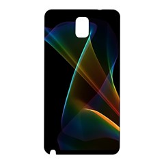 Abstract Rainbow Lily, Colorful Mystical Flower  Samsung Galaxy Note 3 N9005 Hardshell Back Case by DianeClancy