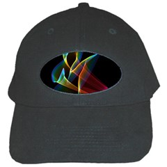 Peacock Symphony, Abstract Rainbow Music Black Baseball Cap by DianeClancy
