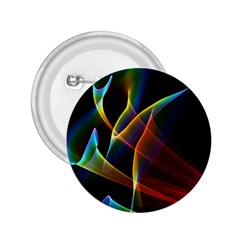Peacock Symphony, Abstract Rainbow Music 2 25  Button by DianeClancy