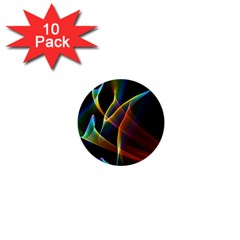 Peacock Symphony, Abstract Rainbow Music 1  Mini Button (10 Pack) by DianeClancy