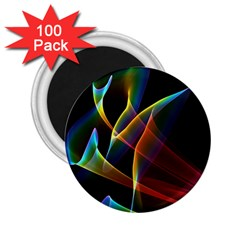 Peacock Symphony, Abstract Rainbow Music 2 25  Button Magnet (100 Pack) by DianeClancy
