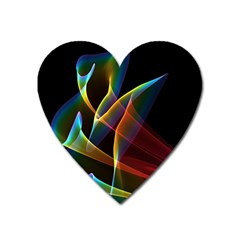 Peacock Symphony, Abstract Rainbow Music Magnet (heart) by DianeClancy