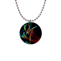Peacock Symphony, Abstract Rainbow Music Button Necklace by DianeClancy