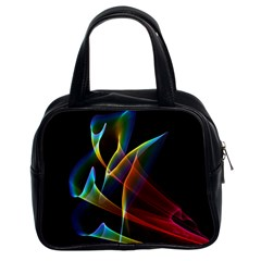 Peacock Symphony, Abstract Rainbow Music Classic Handbag (two Sides) by DianeClancy