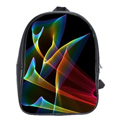 Peacock Symphony, Abstract Rainbow Music School Bag (large) by DianeClancy