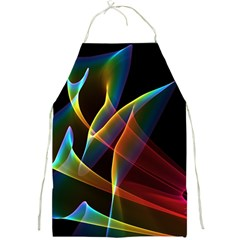 Peacock Symphony, Abstract Rainbow Music Apron by DianeClancy