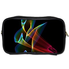Peacock Symphony, Abstract Rainbow Music Travel Toiletry Bag (two Sides) by DianeClancy