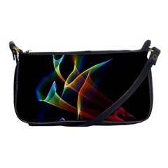 Peacock Symphony, Abstract Rainbow Music Evening Bag by DianeClancy