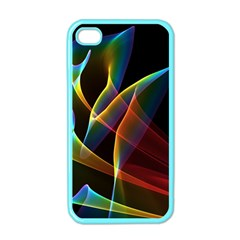 Peacock Symphony, Abstract Rainbow Music Apple Iphone 4 Case (color) by DianeClancy