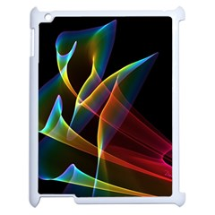 Peacock Symphony, Abstract Rainbow Music Apple Ipad 2 Case (white) by DianeClancy