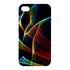 Peacock Symphony, Abstract Rainbow Music Apple Iphone 4/4s Premium Hardshell Case by DianeClancy