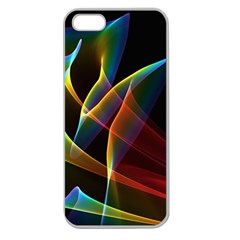 Peacock Symphony, Abstract Rainbow Music Apple Seamless Iphone 5 Case (clear) by DianeClancy