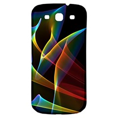 Peacock Symphony, Abstract Rainbow Music Samsung Galaxy S3 S Iii Classic Hardshell Back Case by DianeClancy