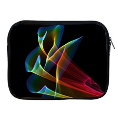 Peacock Symphony, Abstract Rainbow Music Apple Ipad Zippered Sleeve by DianeClancy