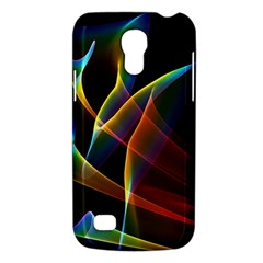 Peacock Symphony, Abstract Rainbow Music Samsung Galaxy S4 Mini (gt I9190) Hardshell Case  by DianeClancy