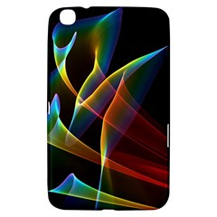 Peacock Symphony, Abstract Rainbow Music Samsung Galaxy Tab 3 (8 ) T3100 Hardshell Case  by DianeClancy