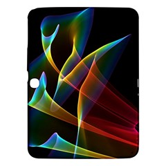Peacock Symphony, Abstract Rainbow Music Samsung Galaxy Tab 3 (10 1 ) P5200 Hardshell Case  by DianeClancy