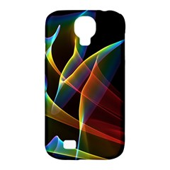 Peacock Symphony, Abstract Rainbow Music Samsung Galaxy S4 Classic Hardshell Case (pc+silicone) by DianeClancy