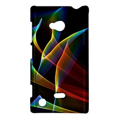 Peacock Symphony, Abstract Rainbow Music Nokia Lumia 720 Hardshell Case by DianeClancy