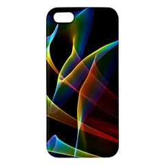 Peacock Symphony, Abstract Rainbow Music Iphone 5s Premium Hardshell Case by DianeClancy